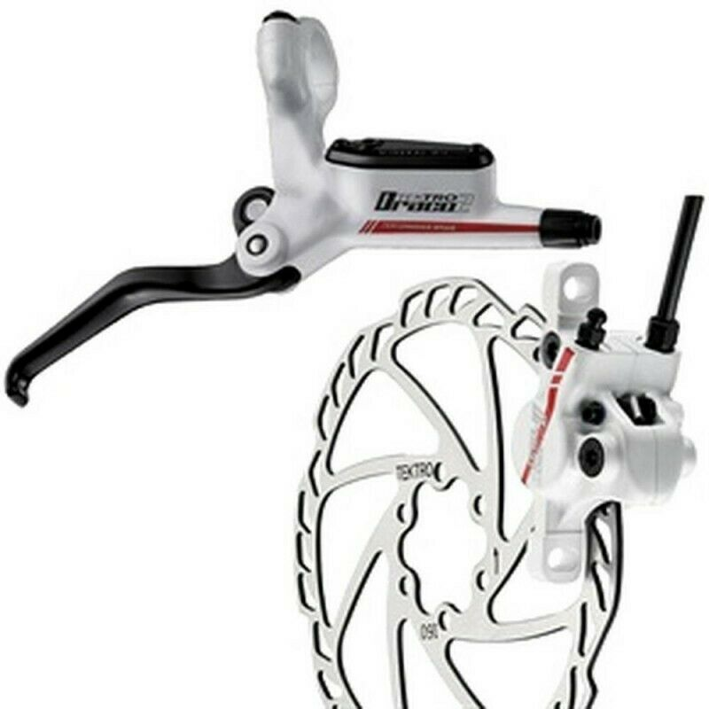 Tektro Draco2 MTB Hydraulic Rear LH Brake 160mm redor White