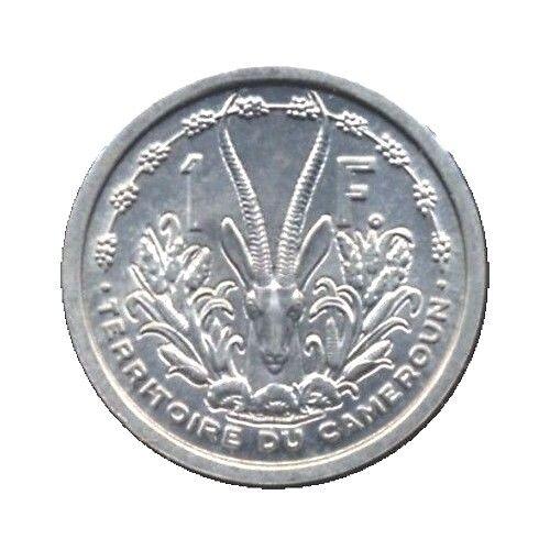 elf French Cameroon Cameroun 1 Franc 1948  Gazelle