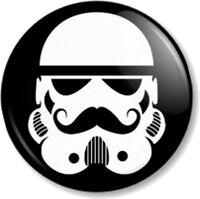 "Moustache Stormtrooper 25mm 1"" Pin Button Badge Movember Tash Star Wars Novelty"