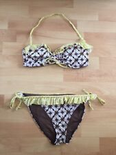 a4190e80d852c item 7 NEW DEBENHAMS BROWN WHITE LIME BIKINI 34B TOP AND SIZE 12 BOTTOMS  KNICKERS BOHO -NEW DEBENHAMS BROWN WHITE LIME BIKINI 34B TOP AND SIZE 12  BOTTOMS ...