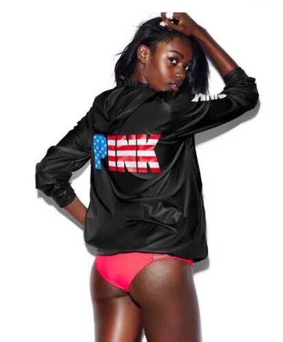 Full Hooded Nip complète Nip l Usa Secret Pink» M l Up veste capuche avec Jacket à Black «Victorias fermeture noir à Anorak M glissière zippée merica Zip F1vqUww