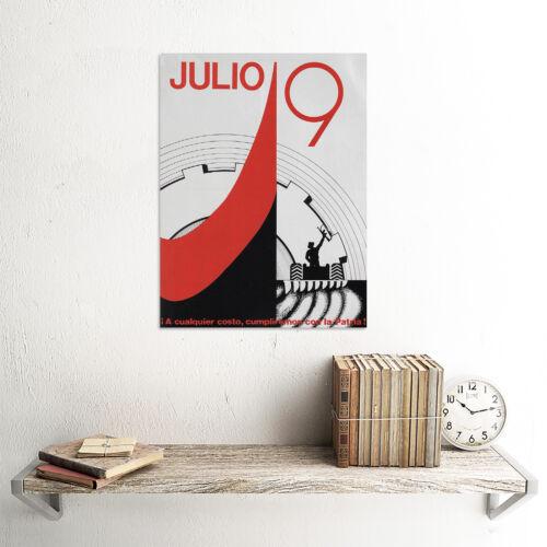 PROPAGANDA NICARAGUA SANDINISTA JULY POSTER ART PRINT 30X40 CM BB2499B