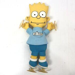 THE SIMPSONS Bart Yo Dude Plush Suction Cups Vintage 1990 Matt Groening Official