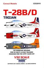 Caracal Decals 1/32 NORTH AMERICAN T-28B/D TROJAN U.S.A.F. & U.S. Navy Trainer