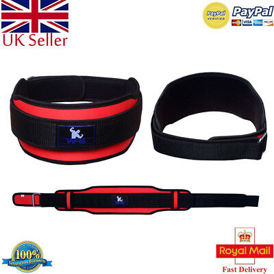 2Fit Weight Lifting Belt Double Support Brace Gym Training Power Lumbar Pain BLK