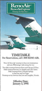 Reno Air system timetable 1/3/95 [0123] Buy 4+ save 25%
