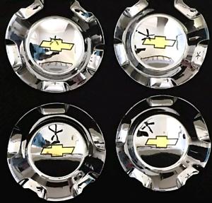 4pcs  2007 2013 Silverado Tahoe Avalanche Suburban Wheel hub Center Caps Chrome
