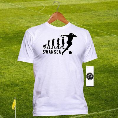 ACDC Football Swansea Black Design Men/'s White T-Shirt
