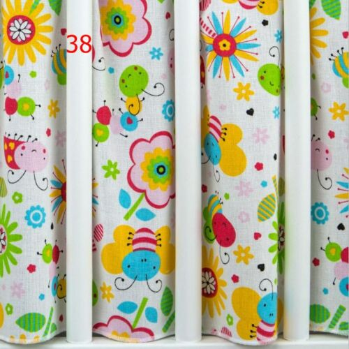ALL ROUND FITS //LOTS  PATTERNS FLAT SHEET FOR COT FRILLED VALANCE COT BED