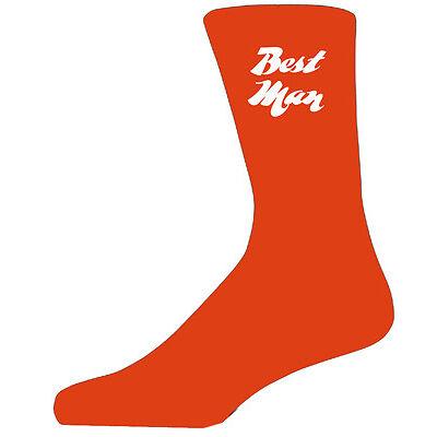 Best Man on Orange Socks, Wedding Socks for all the Party