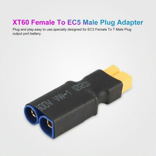 XT60 Female To EC5 Male Plug Wireless Adapter For RC Lipo Battery Connector