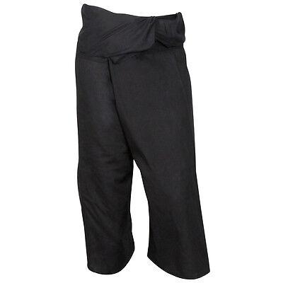 Nero Thai Pescatore Pantaloni Pantaloni Cotone Massage Yoga Beach Tai Chi Gravidanza-mostra Il Titolo Originale
