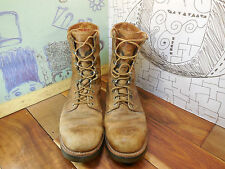Vintage Chippewa Brown Leather Work Motorcycle Boots Men's 10.5A Made in USA