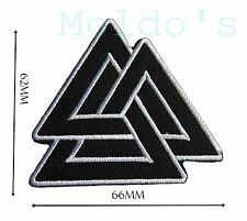 Quality Valknut Viking Norse Patch Embroidered Iron Badge Patches Bikers  #386