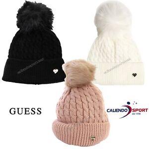 Cappello donna Guess con pon pon