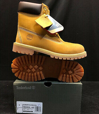 Timberland Youth 6-Inch Premium Waterproof Raining Winter Boots Wheat 12709M