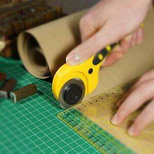 Rollschneider-Stoffschneider-45mm-Set-Patchwork-Cutter-Stoffe-und-Papier