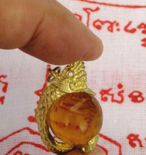 Pendant Cha Naga eye Thai Amulet Fetish Yant success charm Fortune Prosperity