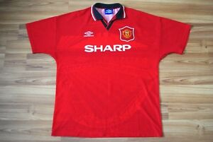 Image is loading MANCHESTER-UNITED-1994-1995-HOME-FOOTBALL-SOCCER-SHIRT- 46abab551