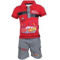 Vêtement Ensemble Polo + Short Cars 3 Mois Rouge Et Gris / Bébé Garçon Neuf