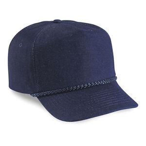 f724553f23a 1 Dozen (12) Denim Golf Hats Navy Blue TSG-D - 5 Pnl Denim