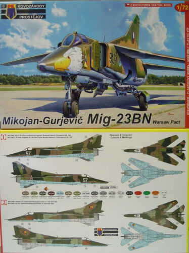 MiG23 Bn Warsaw Contract, 172, Kp, Plastic, GDR, Bulgaria, Cz, Novelty