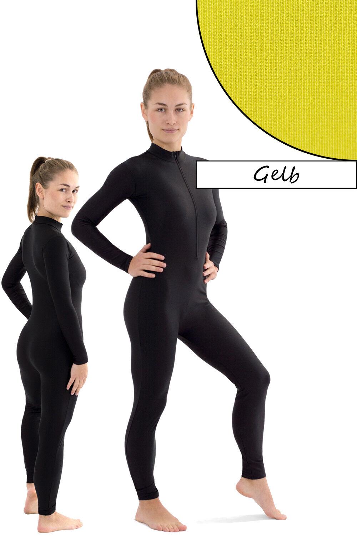 Señora muy traje Front-RV amarillo Sport voltigieranzug stretch elástica Shiny