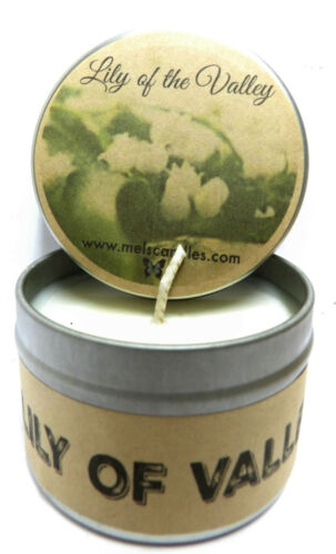 Wholesale LOT of 40 Lily of The Valley Handmade 4oz Tin Soy Candles Scented
