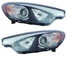 Driver+Passenger Halogen Headlight Pair w/o LED for 2014 2015 KIA FORTE Priority