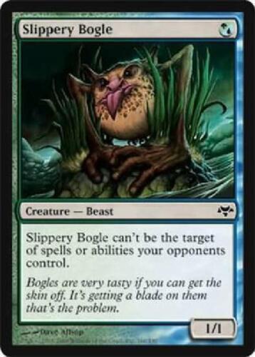 OtBG MTG Magic Common LP Light Play Slippery Bogle  EVE Eventide