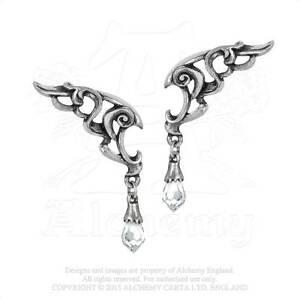 Alchemy-Wings-of-ETERNIDAD-peltre-y-cristal-colgante-pendientes