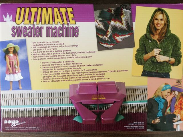 Ultimate Incredible Sweater Machine Patterns Bond Gifts /& Toys Pattern Book