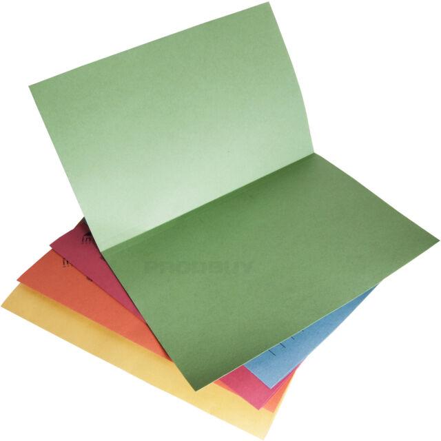 x100 Elba Manilla Square Cut Folders Foolscap 285gsm Buff