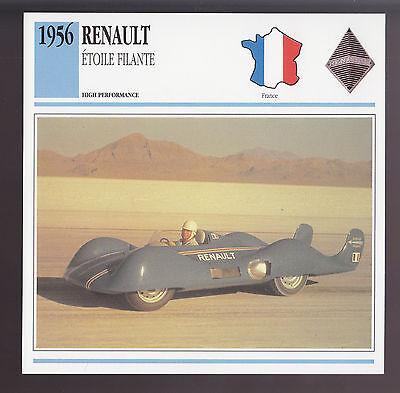 1956 Renault Etoile Filante Turbine Engine Car Photo Spec