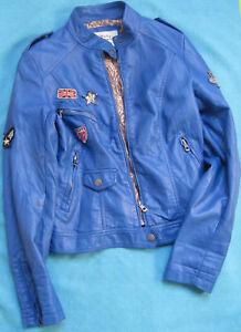 Details zu Damen Mädchen Jacke Softy outerwear collection Gr S blau Kunstleder TOP