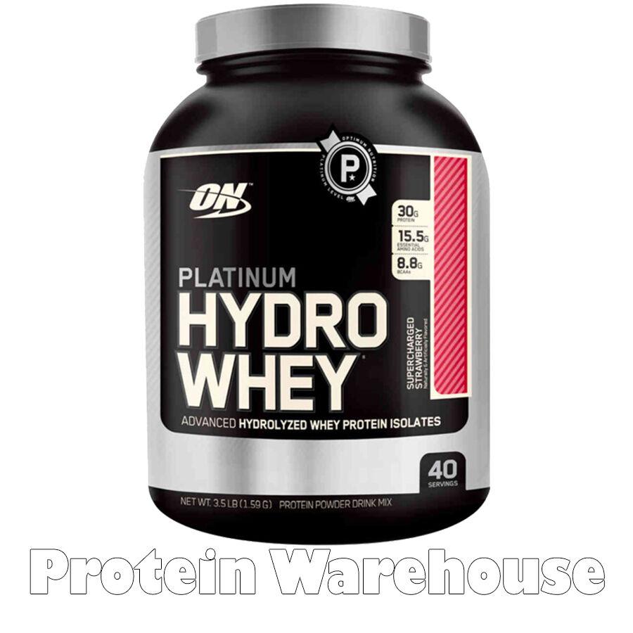 Optimum Nutrition Platinum Hydro Whey 1.6kg Isolate Protein Gold Powder Shake