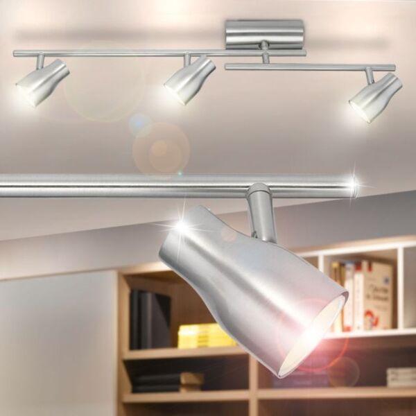 Eglo 89393 Lampada In Metallo X Soffitto 3 Faretti 9w Gu10 Modello Elo-economy