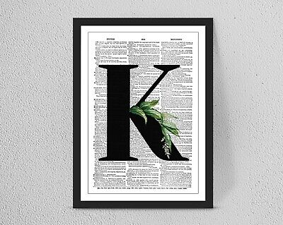 Vintage//Retro Personalised DICTIONARY Initial Name print// A4//A3 Wall Decor