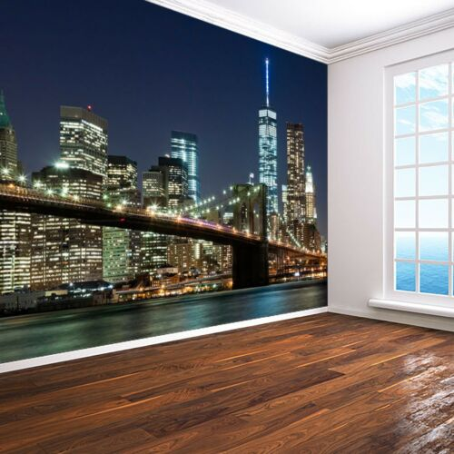 New York City skyline photo Wallpaper wall mural 9 designs Manhattan Brooklyn