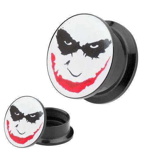 Picture Ohr Plug Motiv Batman Joker Face Comic