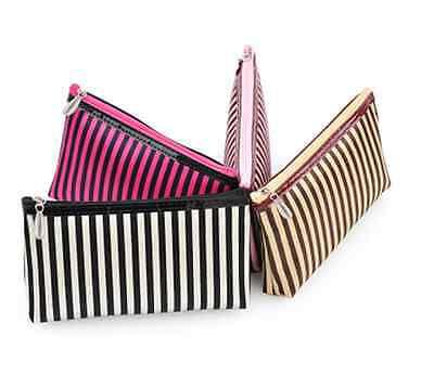 Kosmetiktasche mit Spiegel klein Tasche Damen Style bunt gestreift gepunktet Bag