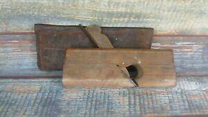 Vintage-Old-Wooden-Moulding-Plane-Woodworking-Hand-Tool-Marked-J-Fleming