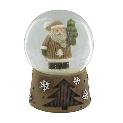 Novelty Lidded Snow Globe Father Christmas Lidded Jar Snowglobe Decoration