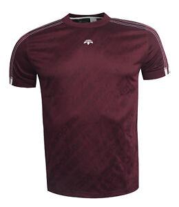 e4314408c8 Adidas Originals by Alexander Wang Short Sleeve Mens T-Shirt Maroon ...