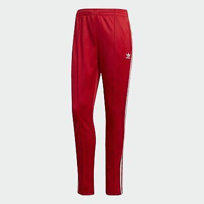 Détails sur Combinaison Femme Rouge Adidas Originals Pantalon avec Bandes Track Sst fw19