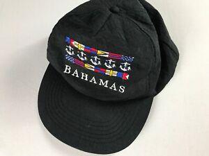 Bahamas-Snapback-Hat-VTG-Lightweight-Cap-Nautical-Anchor-Sailing-Flag-One-Size