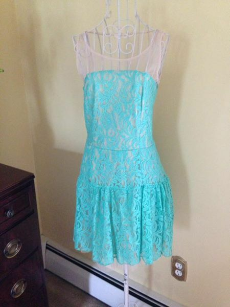Juniors Aqua Lace Dress size 0 or Small