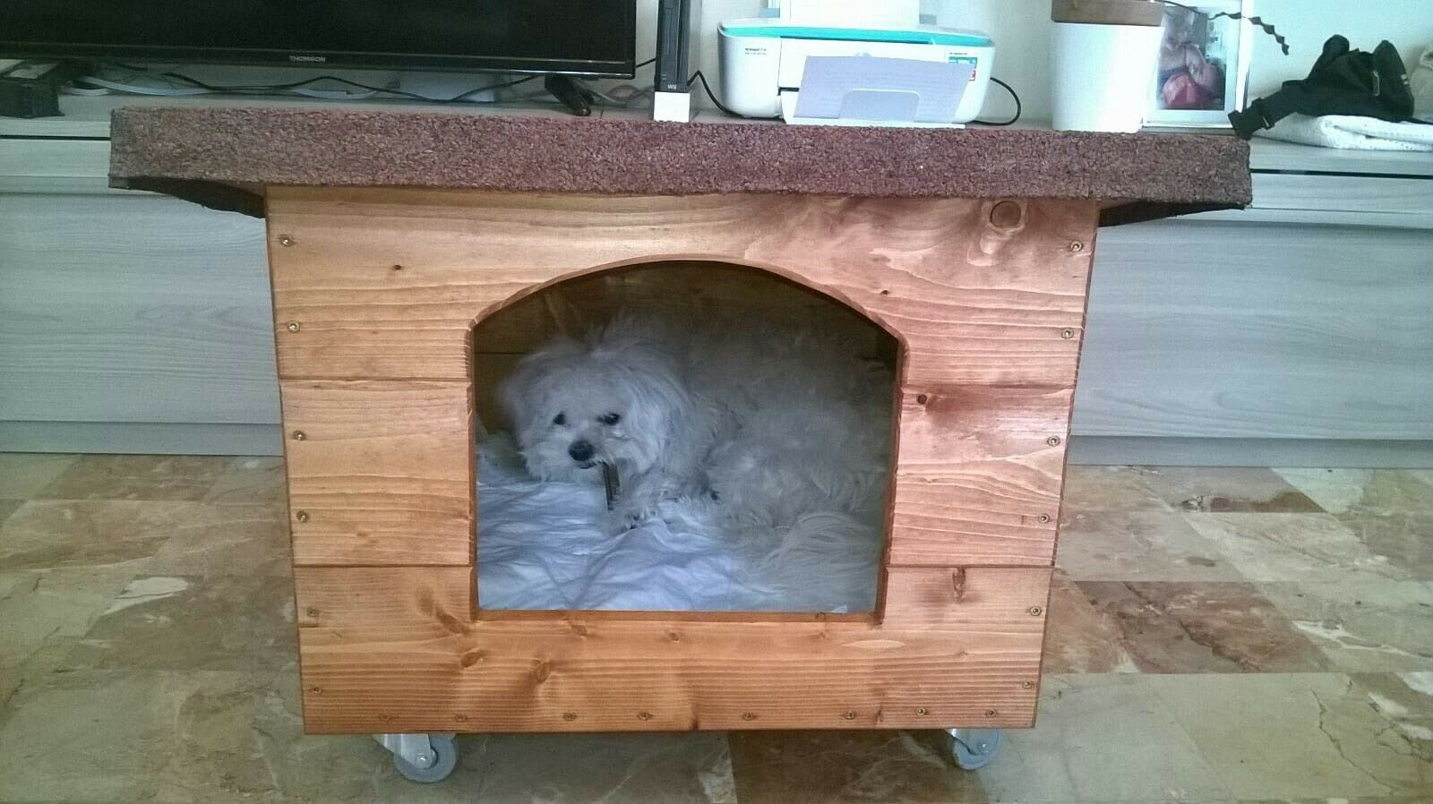 Cuccia canigatti in legno casetta