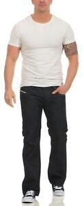 Diesel-Homme-Jeans-Zatiny-0088z-88z-Made-in-Italy-Regular-Bootcut-Dark-Wash-NEUF