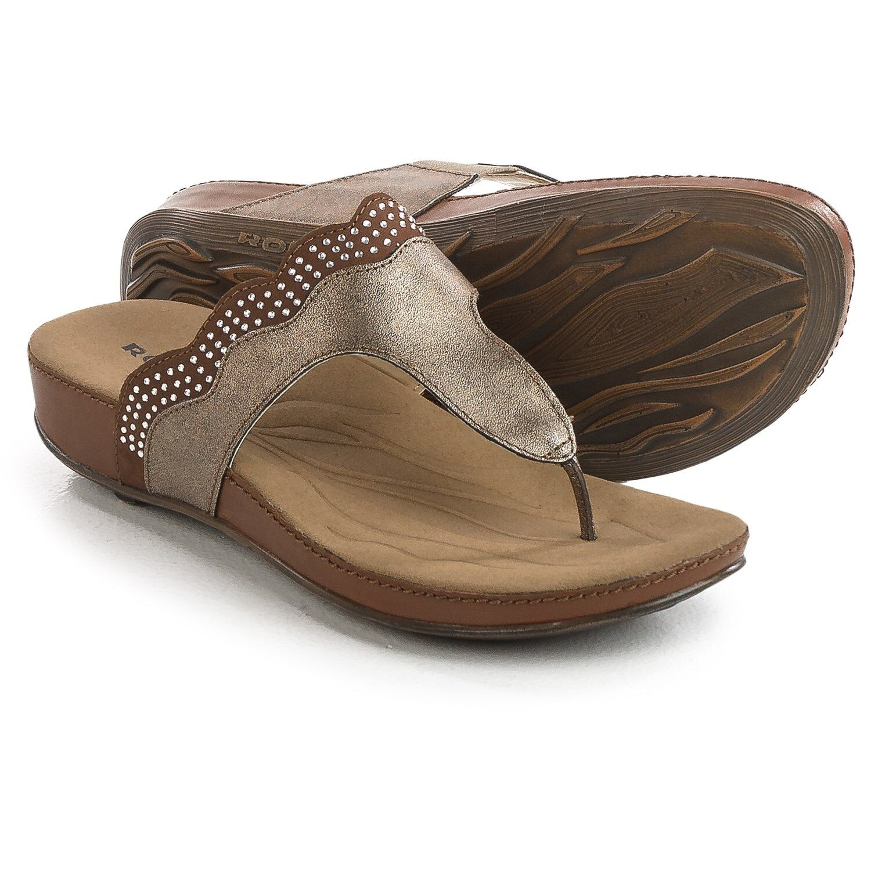 NEU ROMIKA Fidschi 44 Sandales Leder Größe - 7 (37) - Bronze Bark